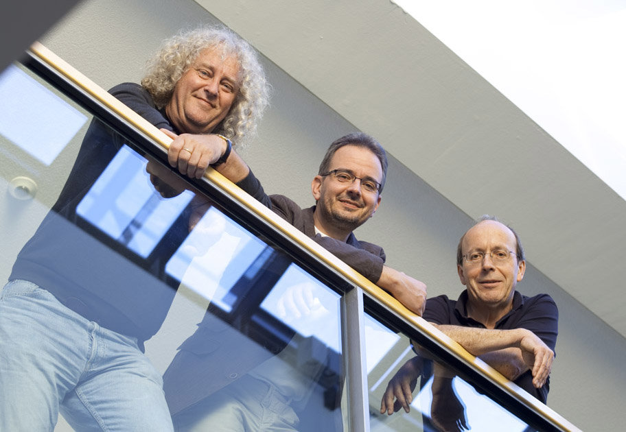 The Max Planck Institute of Molecular Plant Physiology is organised in three Departments headed by the directors Lothar Willmitzer, Ralph Bock und Mark Stitt. (from R to L)